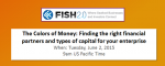 The Colors of Money: Finding the right financial partners and types of capital for your enterprise (June 2, 2015)
