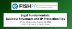Legal Fundamentals: Business Structures and IP Protection Tips (Aug 12, 2015)